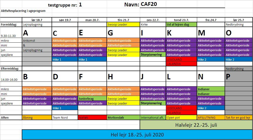 Lejrprogrammet for CAF20